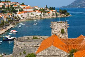 Korčula, staré město - část hradeb