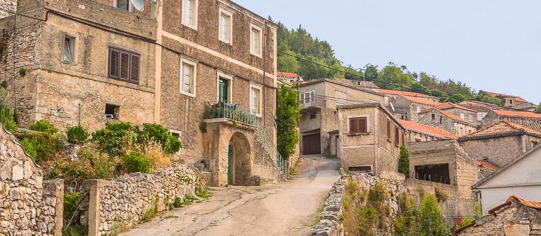 Smokvica, staré domy