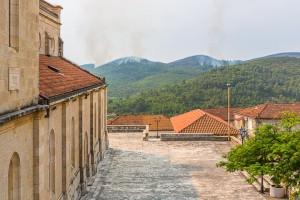 Smokvica, prostranství u kostela