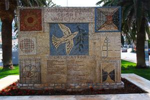 Vela Luka, mozaika v centru