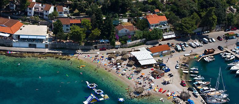 Lumbarda, letecký snímek
