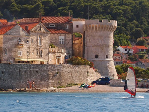 Část hradeb města Korčuly